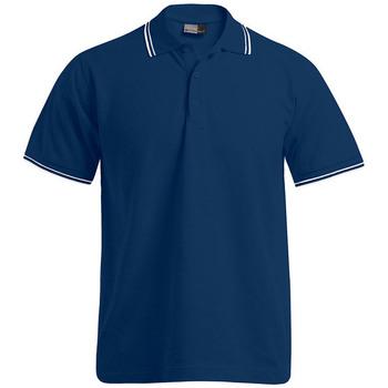 Vêtements Homme Polos manches courtes Promodoro Polo bandes contrastées Hommes bleu marine