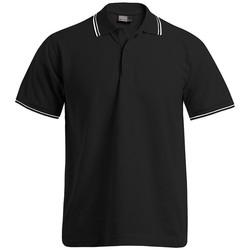 Vêtements Homme Polos manches courtes Promodoro Polo bandes contrastées Hommes noir