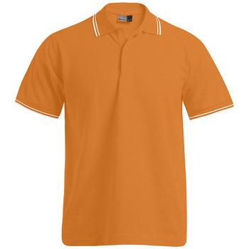 Vêtements Homme Polos manches courtes Promodoro Polo bandes contrastées Hommes orange