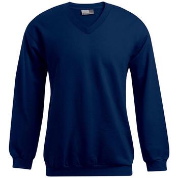 Vêtements Homme Sweats Promodoro Sweat Premium col V grandes tailles Hommes bleu marine