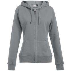 Vêtements Femme Sweats Promodoro Veste sweat capuche zippée 80-20 grandes tailles Femmes gris foncé-mélange