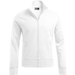 Vêtements Homme Sweats Promodoro Veste col montant grandes tailles Hommes blanc