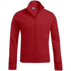 Vêtements Homme Sweats Promodoro Veste col montant grandes tailles Hommes rouge feu