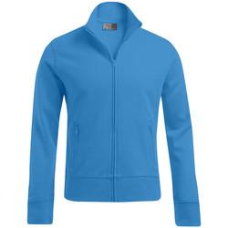 Vêtements Homme Sweats Promodoro Veste col montant grandes tailles Hommes turquoise