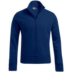 Vêtements Homme Sweats Promodoro Veste col montant grandes tailles Hommes bleu marine
