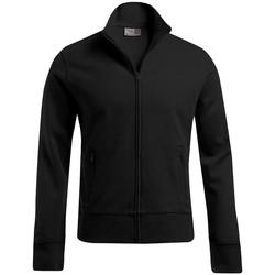 Vêtements Homme Sweats Promodoro Veste col montant grandes tailles Hommes noir