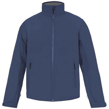 Vêtements Homme Coupes vent Promodoro Veste Softshell C+ grandes tailles Hommes bleu marine