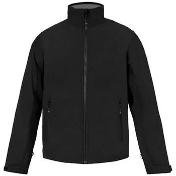 Vêtements Homme Coupes vent Promodoro Veste Softshell C+ grandes tailles Hommes noir