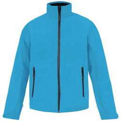 Vêtements Homme Coupes vent Promodoro Veste Softshell C+ grandes tailles Hommes Bleu azur
