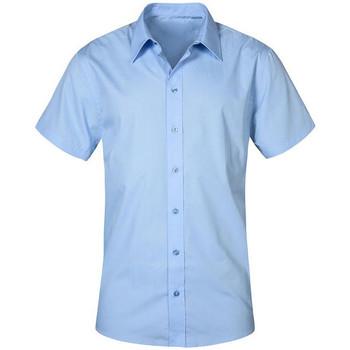 Vêtements Homme Chemises manches courtes Promodoro Chemise Business manches courtes Hommes bleu pale
