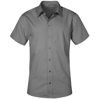 Vêtements Homme Chemises manches courtes Promodoro Chemise Business manches courtes grandes tailles Hommes gris acier