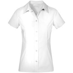 Vêtements Femme Chemises / Chemisiers Promodoro Chemise Business manches courtes grandes tailles Femmes blanc