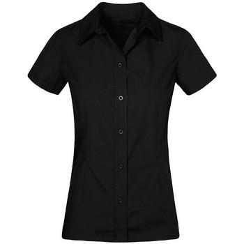 Vêtements Femme Chemises / Chemisiers Promodoro Chemise Business manches courtes Femmes noir