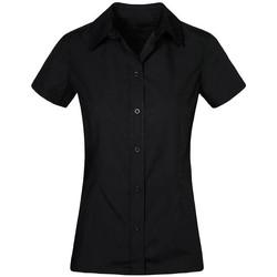 Vêtements Femme Chemises / Chemisiers Promodoro Chemise Business manches courtes grandes tailles Femmes noir