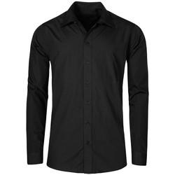 Vêtements Homme Chemises manches longues Promodoro Chemise Business manches longues grandes tailles Hommes noir