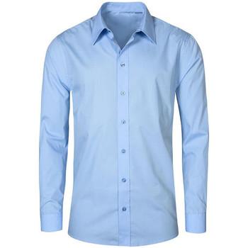 Vêtements Homme Chemises manches longues Promodoro Chemise Business manches longues grandes tailles Hommes bleu pale