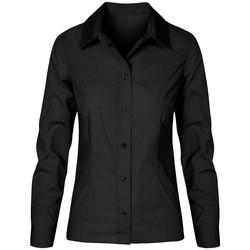 Vêtements Femme Chemises / Chemisiers Promodoro Chemise Business manches longues grandes tailles Femmes noir