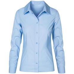 Vêtements Femme Chemises / Chemisiers Promodoro Chemise Business manches longues Femmes bleu pale