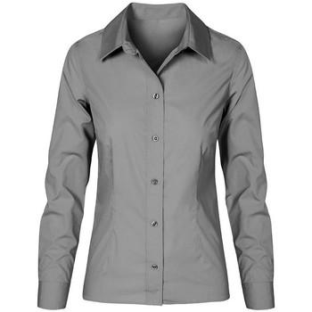 Vêtements Femme Chemises / Chemisiers Promodoro Chemise Business manches longues grandes tailles Femmes gris acier