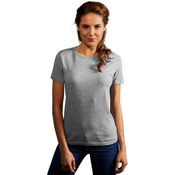 Vêtements Femme T-shirts manches courtes Promodoro T-shirt Premium Femmes gris foncé-mélange