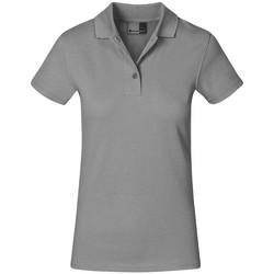 Vêtements Femme Polos manches courtes Promodoro Polo supérieur grandes tailles Femmes gris clair