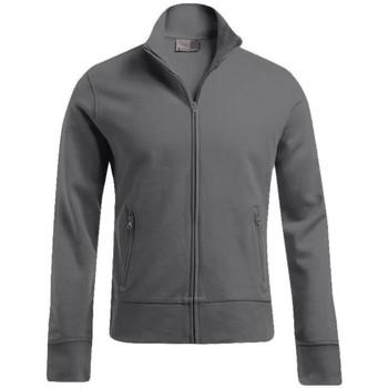 Vêtements Homme Sweats Promodoro Veste col montant grandes tailles Hommes gris acier