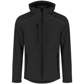Vêtements Homme Coupes vent Promodoro Veste Softshell grandes tailles Hommes noir