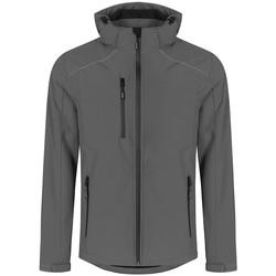Vêtements Homme Coupes vent Promodoro Veste Softshell grandes tailles Hommes gris acier