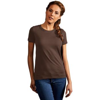 Vêtements Femme T-shirts manches courtes Promodoro T-shirt Premium Femmes marron