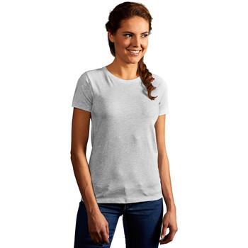 Vêtements Femme T-shirts manches courtes Promodoro T-shirt Premium Femmes gris clair chiné