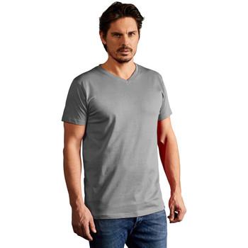 Vêtements Homme T-shirts manches courtes Promodoro T-shirt Premium col V Hommes gris clair