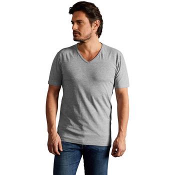 Vêtements Homme T-shirts manches courtes Promodoro T-shirt slim col V Hommes gris foncé-mélange