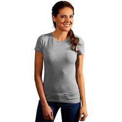 Vêtements Femme T-shirts manches courtes Promodoro T-shirt slim Femmes gris foncé-mélange
