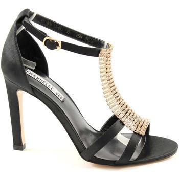 Chaussures Femme Sandales et Nu-pieds Emanuélle Vee EMANUELLE VEE 451-608 femme noire strass sandales à talons noir Nero