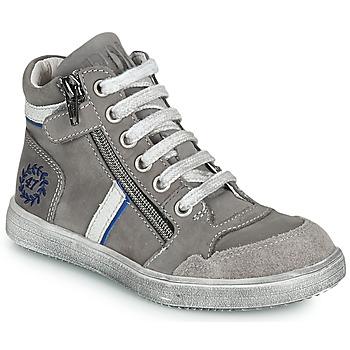 Chaussures Garçon Baskets montantes Ramdam HOUSTON Gris