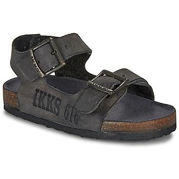 Chaussures Garçon Sandales et Nu-pieds Ikks CURTIS Noir