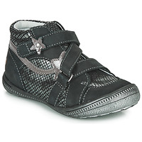 Chaussures Fille Boots GBB NINA Noir / Argenté