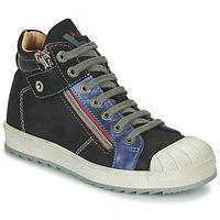 Chaussures Garçon Baskets montantes Achile DIEGO Noir / Bleu