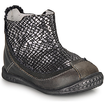 Chaussures Fille Boots Ikks SCARLET Noir / Argenté