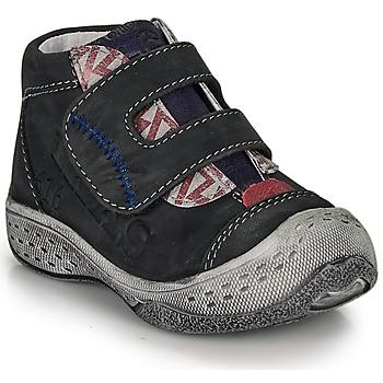 Chaussures Garçon Boots Ikks VICTOR Noir / Rouge