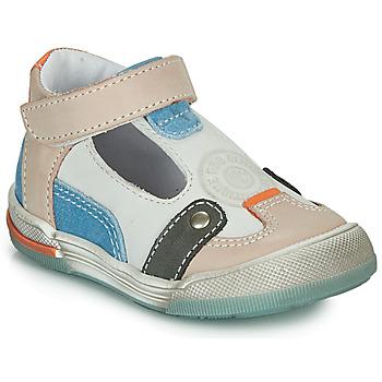 Chaussures Garçon Sandales et Nu-pieds GBB PERCEVAL Blanc / Beige / Bleu
