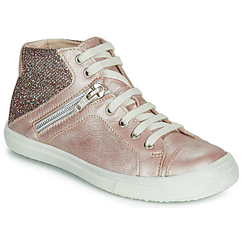 Chaussures Fille Baskets montantes Achile KAMI Rose