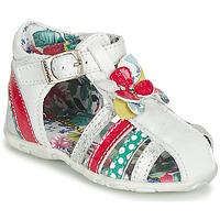 Chaussures Fille Sandales et Nu-pieds Catimini PERSAN Blanc / Multicolor