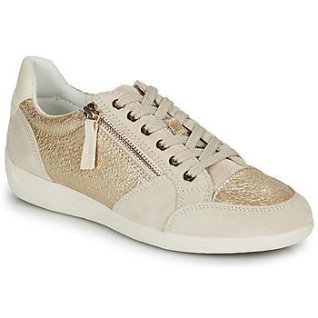 Chaussures Femme Baskets basses Geox MYRIA Doré / Crème