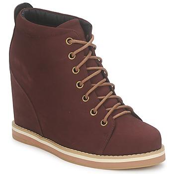 Bottines / Boots No Name WISH DESERT BOOTS Bordeaux 350x350