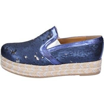 Chaussures Femme Espadrilles Olga Rubini mocassins bleu textile paillettes BS110 bleu