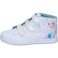 Chaussures Fille Baskets montantes Disney sneakers blanc cuir synthétique BS139 blanc