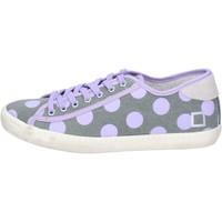 Chaussures Femme Baskets basses Date sneakers gris textile pourpre ap561 gris
