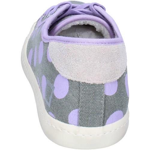 sneakers gris textile pourpre ap561 Date baskets basses femme gris