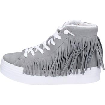 Chaussures Femme Baskets montantes 2 Stars sneakers gris daim ap707 gris